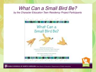 What Can a Small Bird Be?  by the Character Education Teen Residency Project Participants
