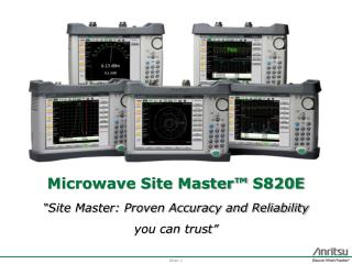 Microwave Site  Master™  S820E