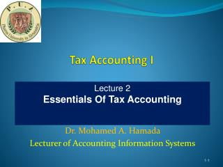 Tax Accounting I