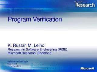 Program Verification