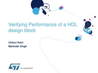 Verifying Performance of a HDL design block