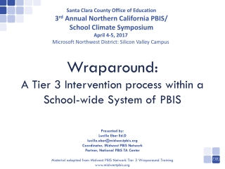 Wraparound : A Tier 3 Intervention process within a School-wide System of PBIS
