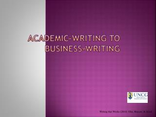 Academic-Writing to Business-Writing