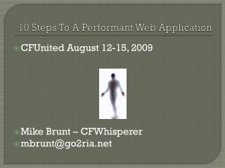 10 Steps To A Performant Web Application