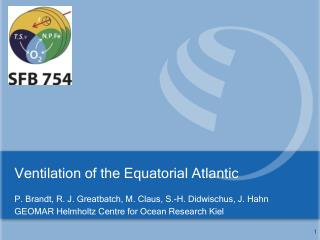 Ventilation  of the E quatorial Atlantic