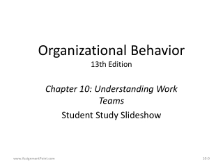 Chapter 10   Motivating Employees and Creating Self-Managed Teams