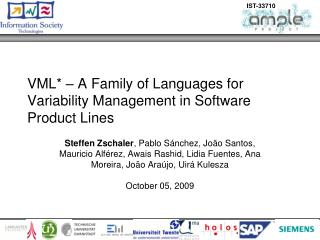 VML* – A Family of Languages for Variability Management in Software Product Lines
