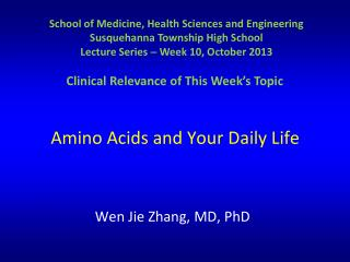 Amino Acids and Your Daily Life