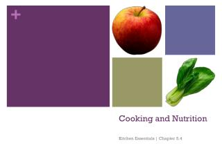 Cooking and Nutrition