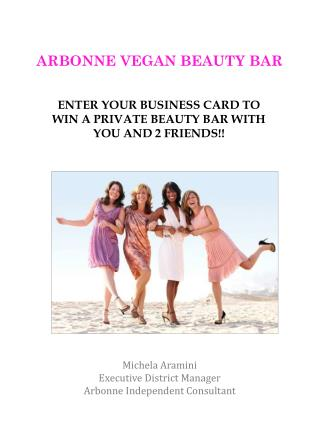 ARBONNE VEGAN BEAUTY BAR