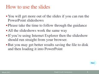 How to use the slides