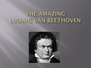 THE AMAZING  Ludwig  van  beethoven