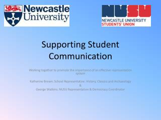 Supporting Student Communication