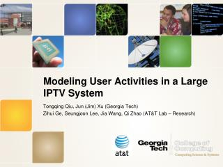Modeling User Activities in a Large IPTV System