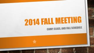 2014 Fall meeting