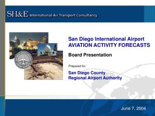 San Diego International Airport AVIATION ACTIVITY FORECASTS