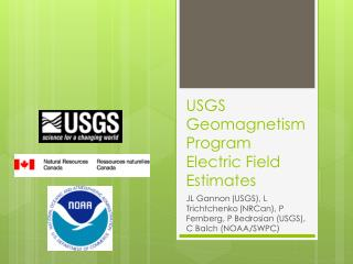 USGS Geomagnetism Program Electric Field Estimates