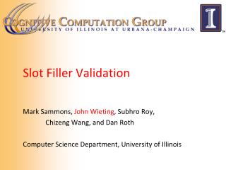 Slot Filler Validation