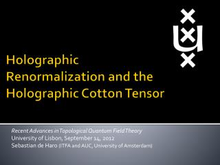 Holographic  Renormalization  and  the  Holographic Cotton  Tensor