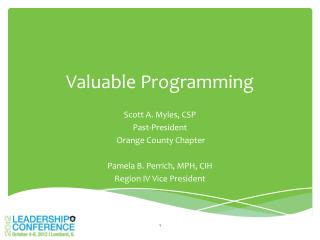 Valuable Programming