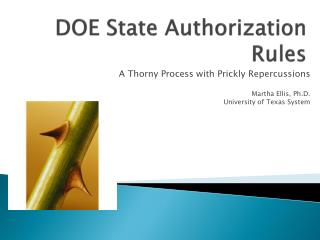 DOE State Authorization Rules