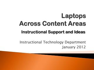 Laptops Across Content Areas