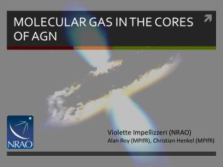 MOLECULAR GAS IN THE CORES OF AGN