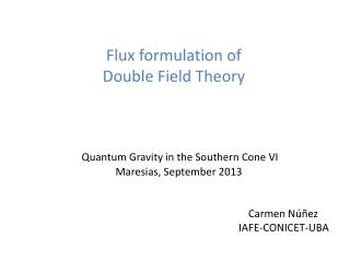Flux  formulation  of  Double Field Theory