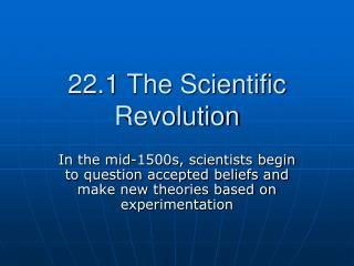 22.1 The Scientific Revolution