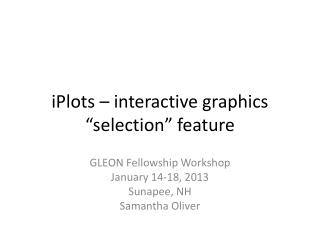 "iPlots  – interactive graphics ""selection"" feature"