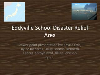 Eddyville School Disaster Relief Area