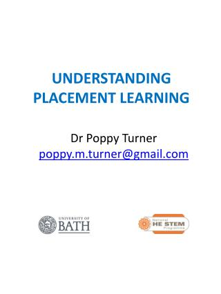 UNDERSTANDING PLACEMENT LEARNING