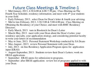 Future Class Meetings & Timeline-1