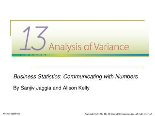 Business Statistics :  Communicating with Numbers By Sanjiv Jaggia and Alison Kelly