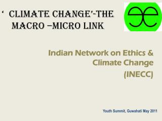 '  CLIMATE CHANGE'-The macro –micro link