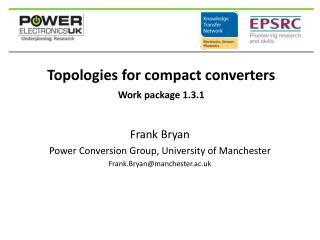 Topologies for compact converters