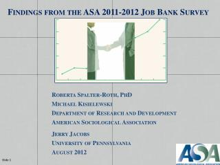 Findings from the ASA 2011-2012 Job Bank Survey