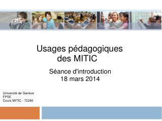 Usages pédagogiques des MITIC
