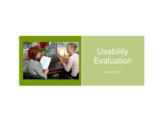 Usability Evaluation