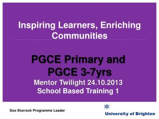 Inspiring Learners, Enriching Communities