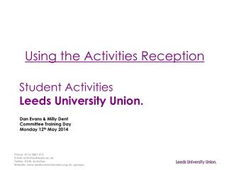 Student Activities Leeds University Union.