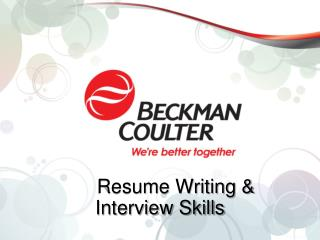 Resume Writing & Interview Skills