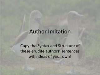 Author Imitation