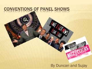 Conventions of panel shows