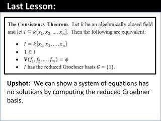 Last Lesson: