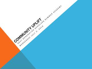 Community Uplift