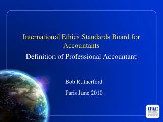 International Ethics Standards Board for Accountants