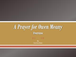 A Prayer for Owen Meany O verview