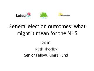 General election outcomes: what might it mean for the NHS