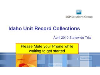 Idaho Unit Record Collections